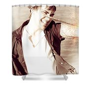 Pirate Sword Fight Shower Curtain