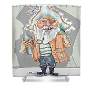 Pirate With Rum Shower Curtain