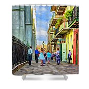 Pirate's Alley Wedding 2 - Paint Shower Curtain