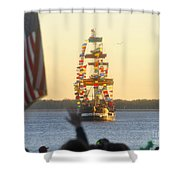 Pirate's Arrival Shower Curtain