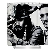 Pirates Of The Carribean Shower Curtain by Luis Ludzska