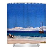 Pirates On The Beach Shower Curtain