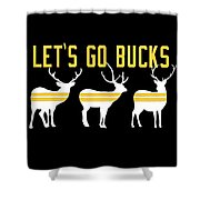 Pirates - Pittsburgh - Let's Go Bucks Shower Curtain