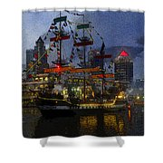 Pirates Plunder Shower Curtain