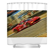 Pirelli World Challenge Olivier Beretta Ferrari 458 Gt3 Italia Shower Curtain