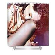 Pisces Dreamer - Self Portrait Shower Curtain