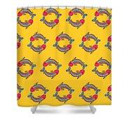 Pisces Zodiac Sign Pattern Shower Curtain