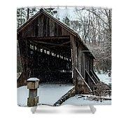 Pisgah Covered Bridge - Modern Shower Curtain