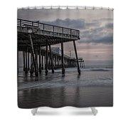 Pismo Beach Pier Shower Curtain
