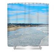 Pismo Beach Pier Shower Curtain
