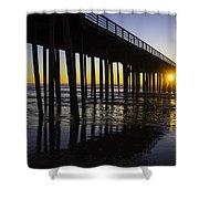 Pismo Sunset Wharf Shower Curtain