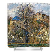 Pissarro: Garden, 1877 Shower Curtain