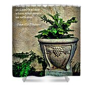 Pissarro Inspirational Quote Shower Curtain