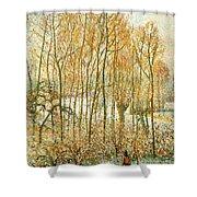pissarro19 Camille Pissarro Shower Curtain