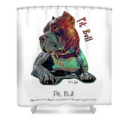 Pit Bull Pop Art Shower Curtain