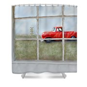 Pit Road--fire And Ice  Shower Curtain