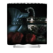 Pitcher And Fruit Shower Curtain
