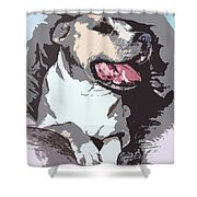 Pittbull Colors Shower Curtain