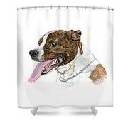 Pittbull Dog Shower Curtain