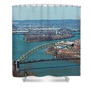 Pittsburg City Skyline Shower Curtain