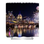 Pittsburgh 1  Shower Curtain by Emmanuel Panagiotakis