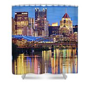 Pittsburgh 2 Shower Curtain by Emmanuel Panagiotakis
