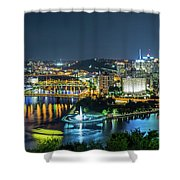 Pittsburgh At Night Shower Curtain