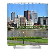 Pittsburgh From Just Outside Pnc Park Shower Curtain