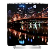 Pittsburgh Full Moon Shower Curtain