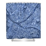 Pittsburgh Map Blue Shower Curtain
