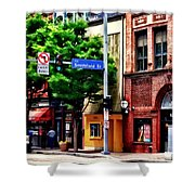 Pittsburgh Pa - Liberty Ave And Smithfield Street Shower Curtain