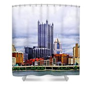 Pittsburgh Pa Skyline Shower Curtain