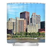 Pittsburgh Panorama June 2017 Shower Curtain