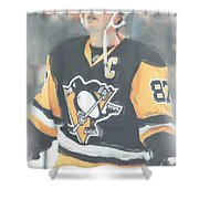 Pittsburgh Penguins Sidney Crosby 3 Shower Curtain