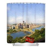 Pittsburgh Pennsylvania Incline Shower Curtain