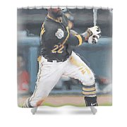 Pittsburgh Pirates Andrew Mccutchen 3 Shower Curtain