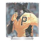 Pittsburgh Pirates Andrew Mccutchen Shower Curtain
