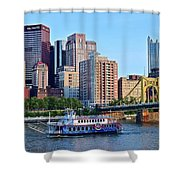 Pittsburgh River Cruise  Shower Curtain