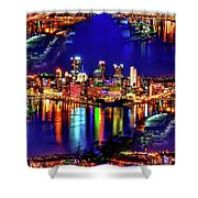 Pittsburgh Skyline Art Shower Curtain