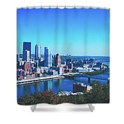 Pittsburgh Skyline Shower Curtain