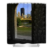Pittsburgh Skyline, North Shore Arch, Pittsburgh, Pa  Shower Curtain