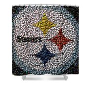 Pittsburgh Steelers  Bottle Cap Mosaic Shower Curtain