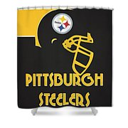 Pittsburgh Steelers Team Vintage Art Shower Curtain
