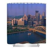 Pittsburgh,pennsylvania Skyline Shower Curtain