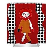 Pittypat Clown Shower Curtain