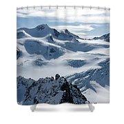 Pitztal Glacier Shower Curtain