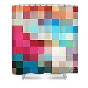 Pixel Art 2 Shower Curtain
