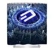 Pixel Dash Concept Shower Curtain