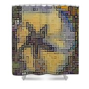 Pixel Pansy Shower Curtain
