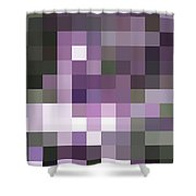 Pixelated Shower Curtain